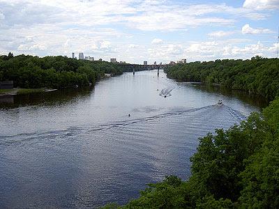 Downtown Minneapolis from the Lake Street bridge
