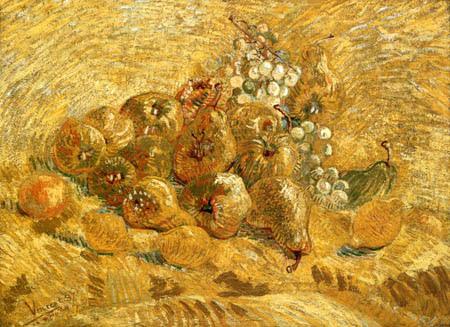 Vincent van Gogh - Bodegón con peras and limones