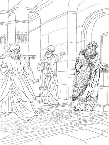 Dibujo De El Rey Uzías Desobedece Al Señor Para Colorear Dibujos