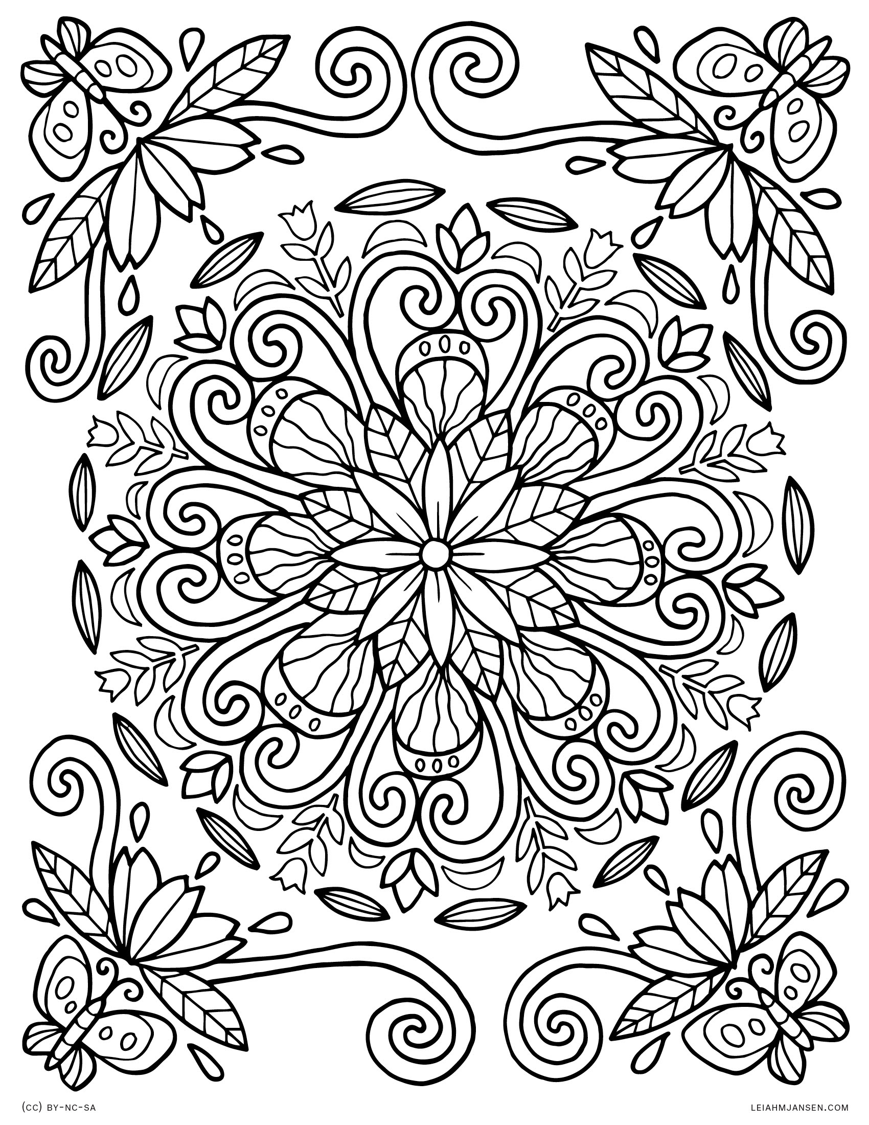 90 Printable Coloring Pages With Flowers , Free HD Download