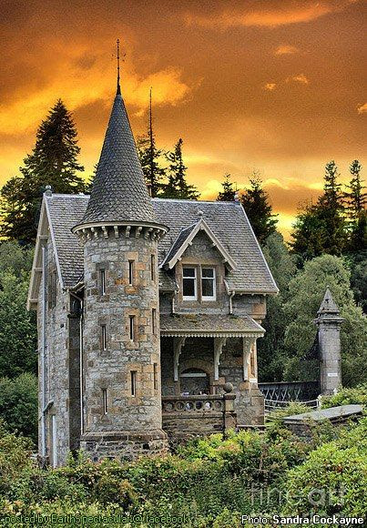 Clearly an enchanted fairytale castle - in  Scotland
