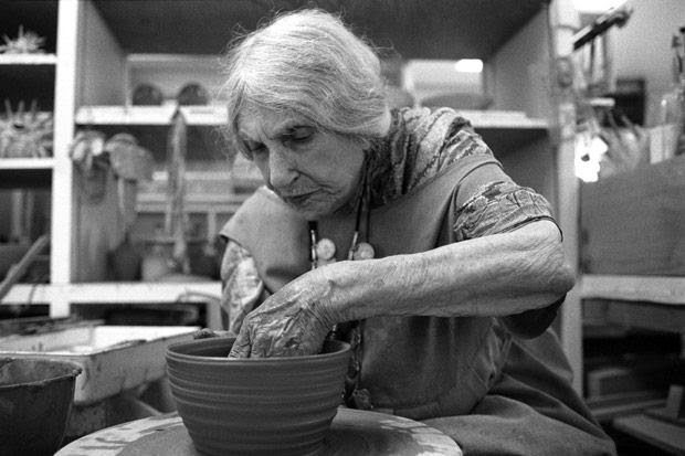 """Mama of Dada""  Beatrice Wood passed away in 1998, at the age of 105 years of age, with the last 25 years of her life her most productive, When asked the secret of her longevity, she would simply offer ""art books, chocolates and young men""."