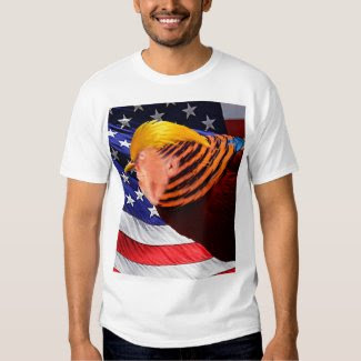 Golden Trump Bird USA Flag Men's Basic T-Shirt