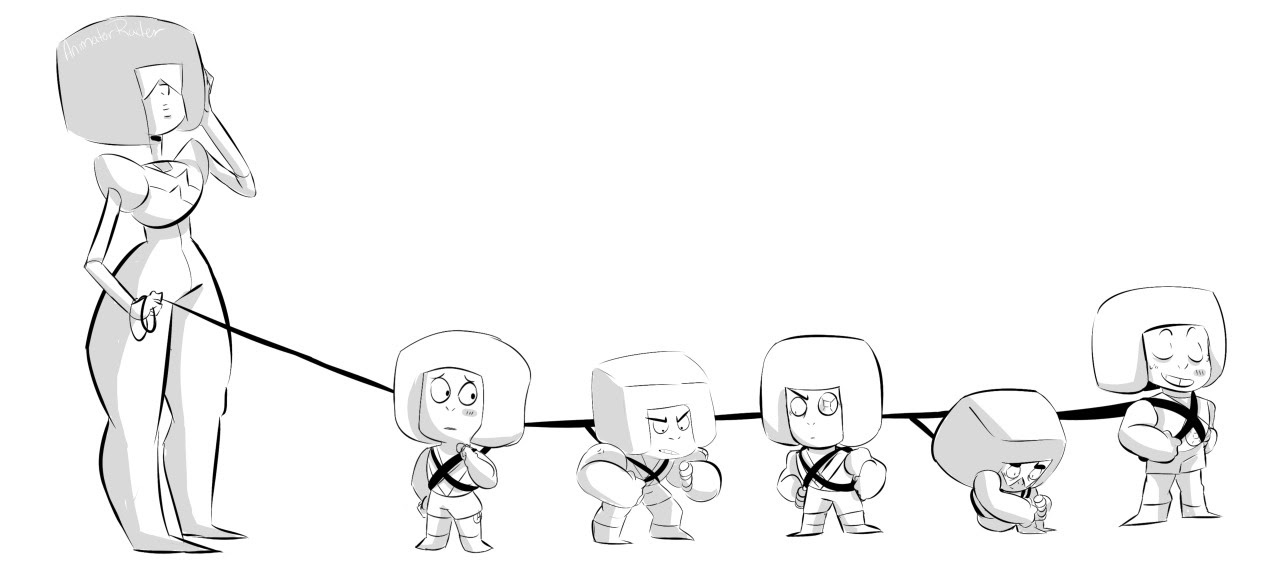 Just walkin' the Rubies. After tonight's episode, this is all I could think about. I mean, what would happen if all of the Rubies joined the Crystal Gems? Probably this.