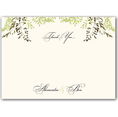 Budget Wedding Invitations Thank You Card Delicate Autumn