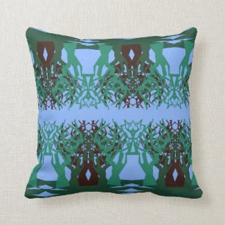 Throw Pillow with Tree Design