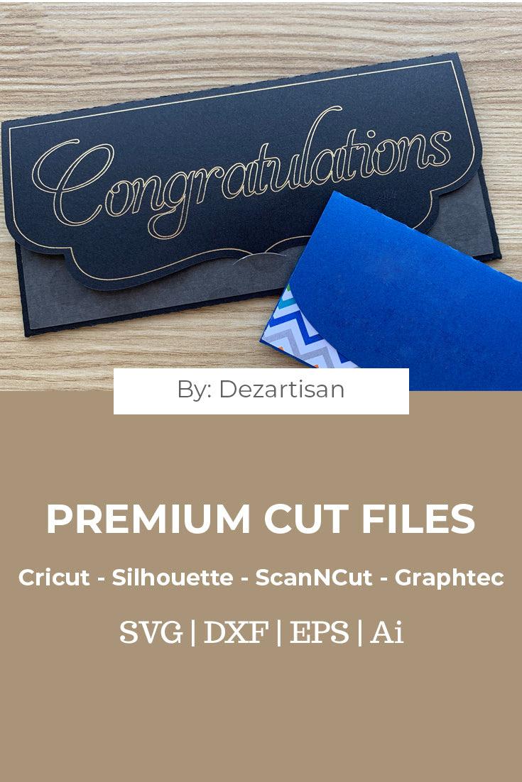 Download Money Gift Card Envelopes Premium cut file SVG   DXF for ...