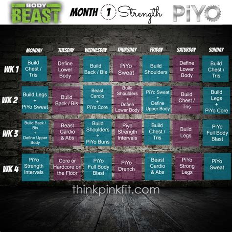 beast piyo hybrid month   beachbody