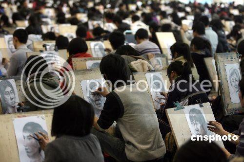 etudiant art Chine