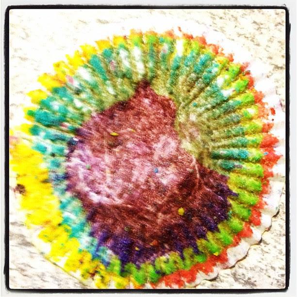 eaten : rainbow cupcake