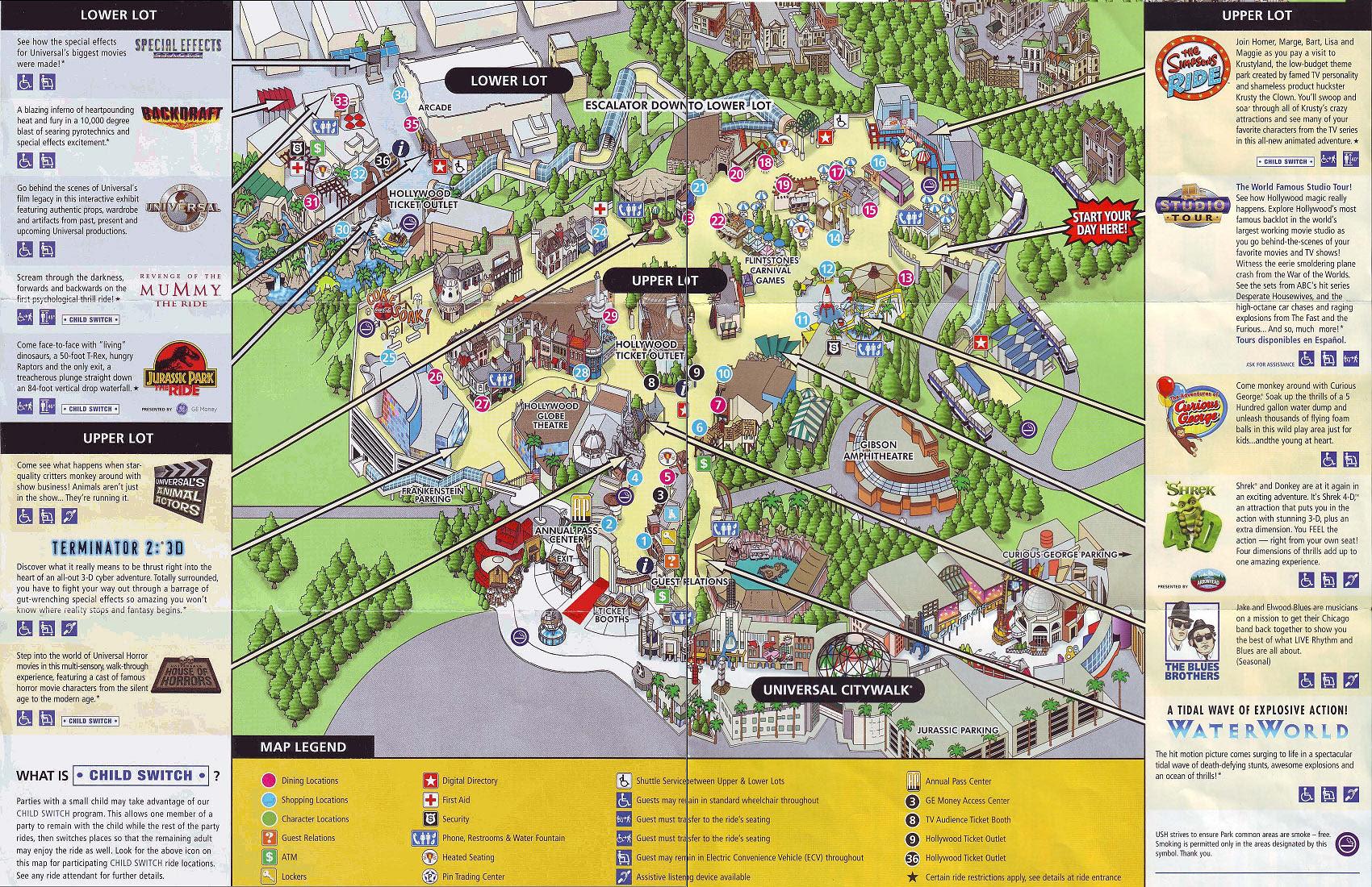 Universal Studio California Map Map Of Universal Studios California   CVFLVBP