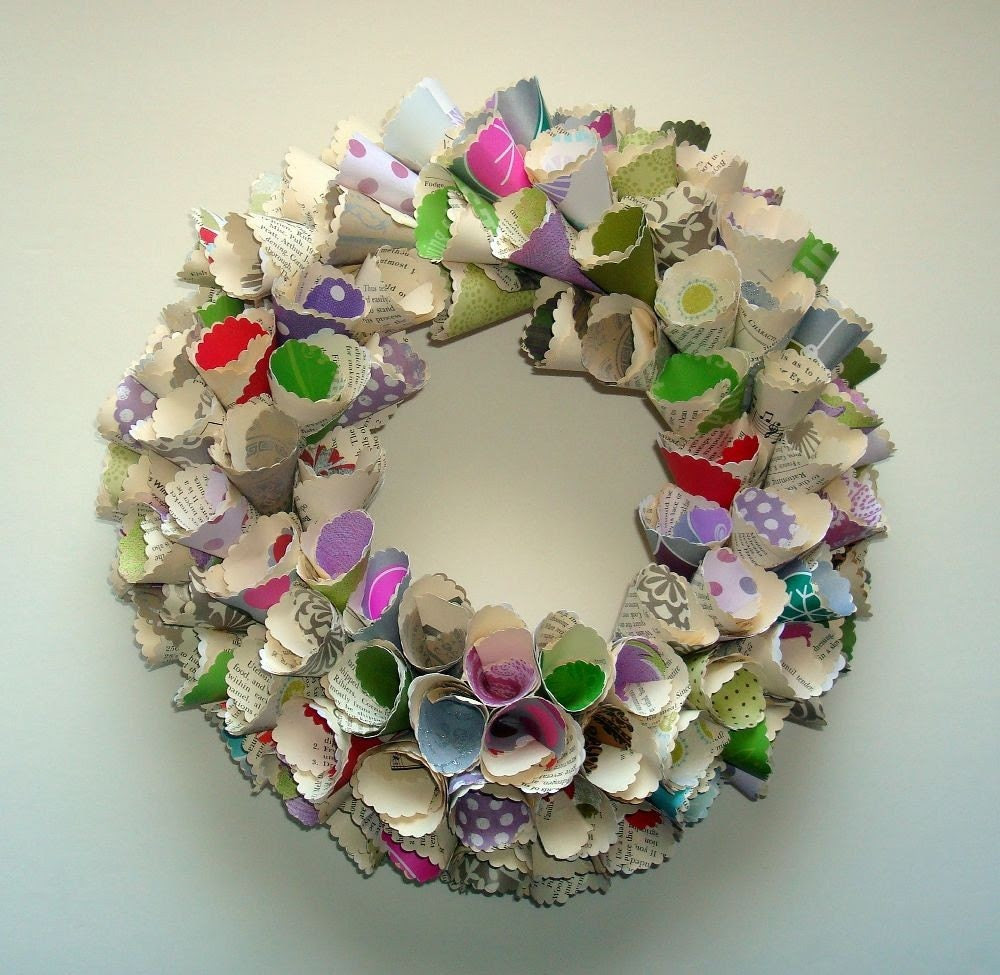 Sugar Plums (Add Your Own Message) Paper Wreath