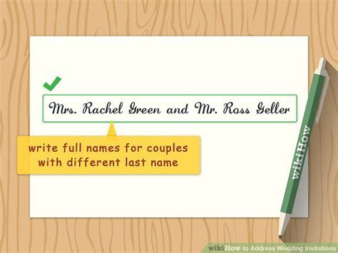 How to Address Wedding Invitations (with Pictures)   wikiHow
