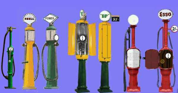 hand operated petrol pumps