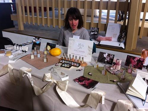 Ayala Moriel Parfums display by Ayala Moriel