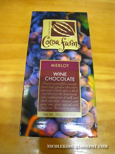 merlot wine chocolate