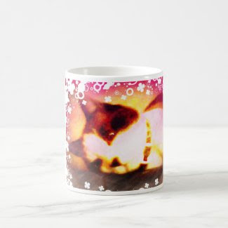 snowshoe fall colors kitty with white flowers classic white coffee mug