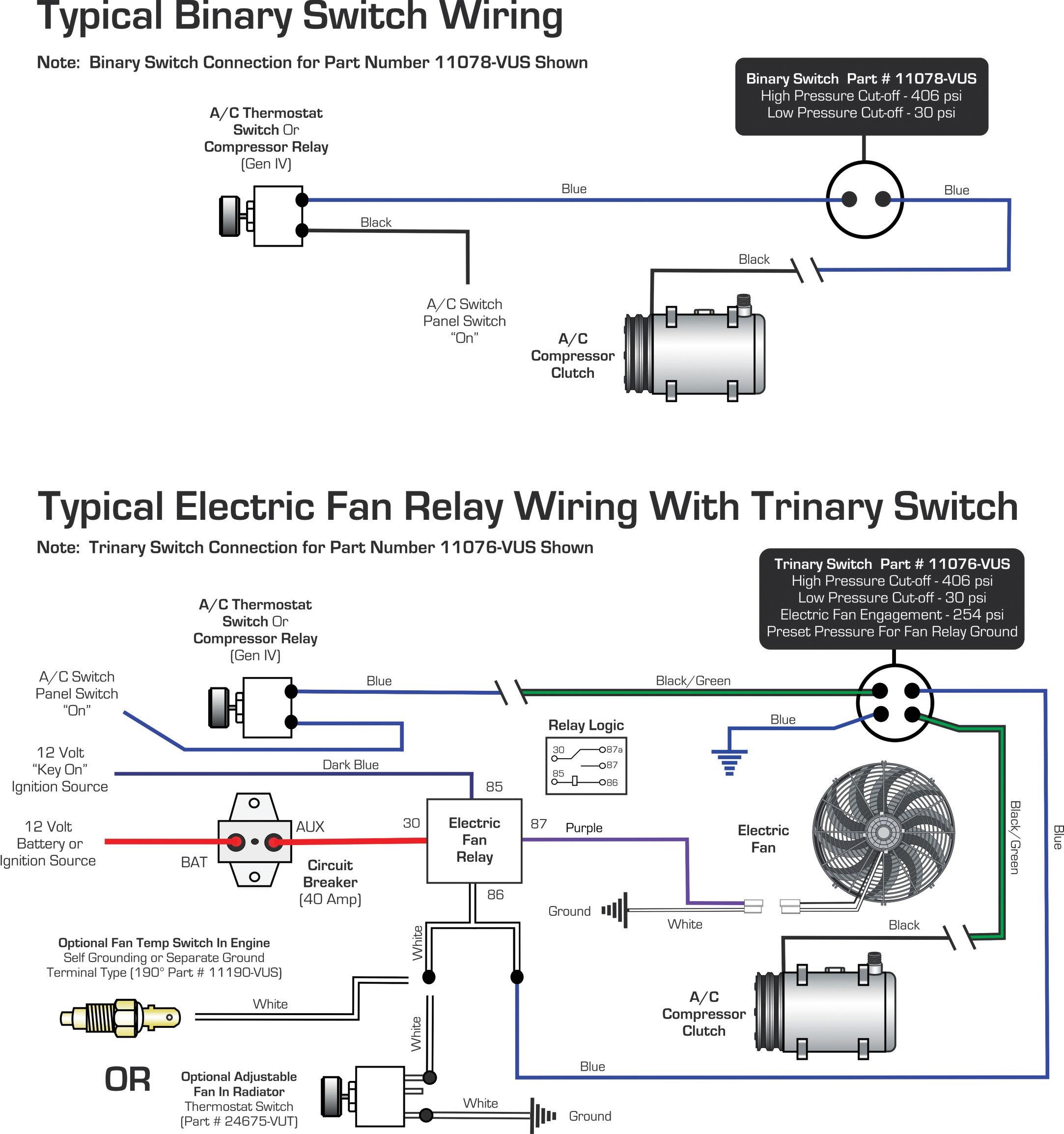 Vintage Air Blog Archive Wiring Diagrams Binary Switch Trinary Switch Vintage Air