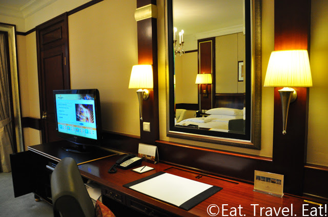 Island Shangri-La Room Desks/ TV/ DVD Player area