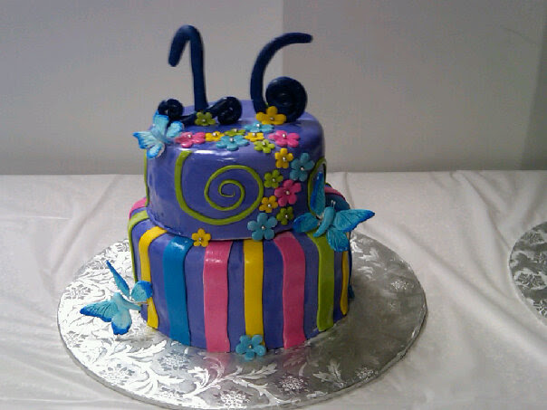 cake boss cakes sweet 16. This sweet 16 cake was made to
