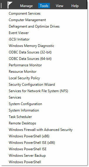 Windows 8 Server Tools