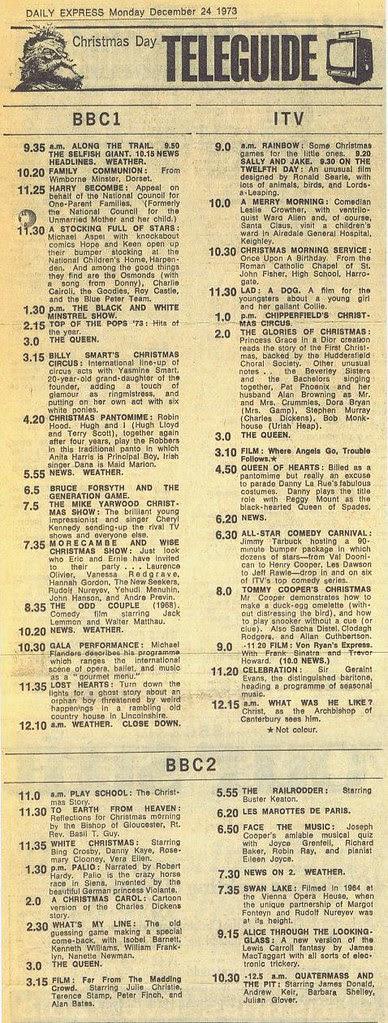 Christmas Day TV 1973