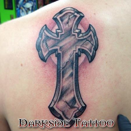 Darkside Tattoo Tattoos Religious Cross Black And Gray Cross