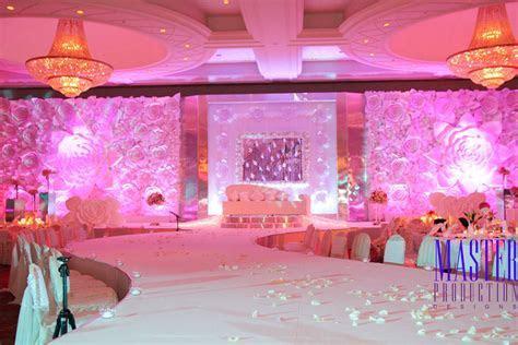 Paper flower stage design. Arabic Wedding in Dubai