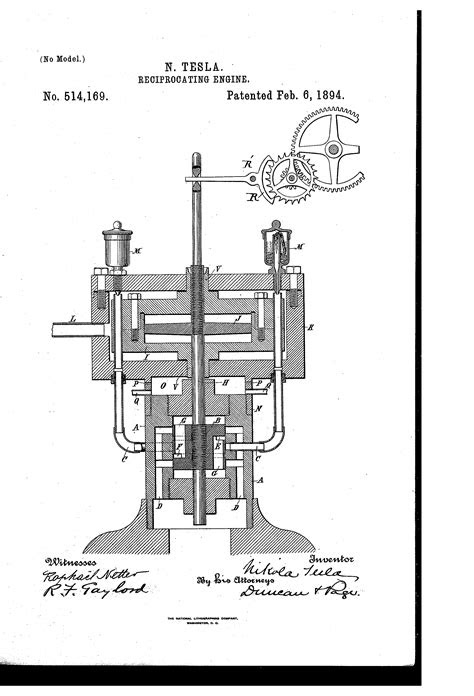 Tesla Patent 514,169