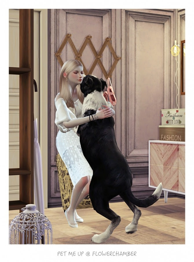 PET ME UP Poses Sets at Flower Chamber » Sims 4 Updates
