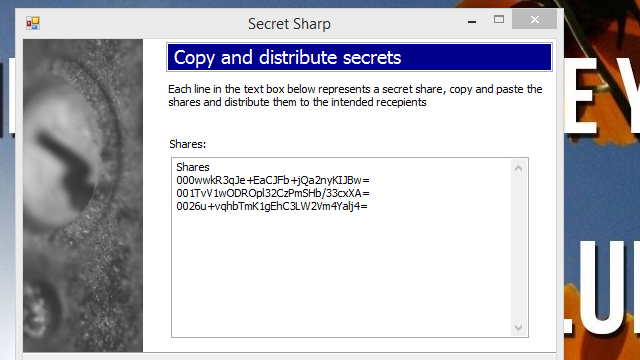 Secret Sharp Encrypts Text, Can Only Be Decrypted By a Group
