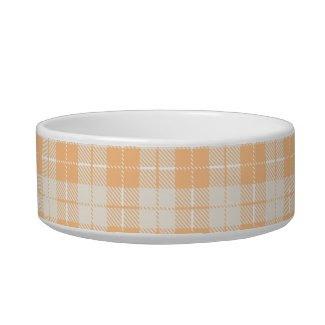 Orange Plaid petbowl