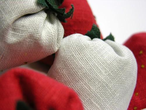 strawberry sachet up close