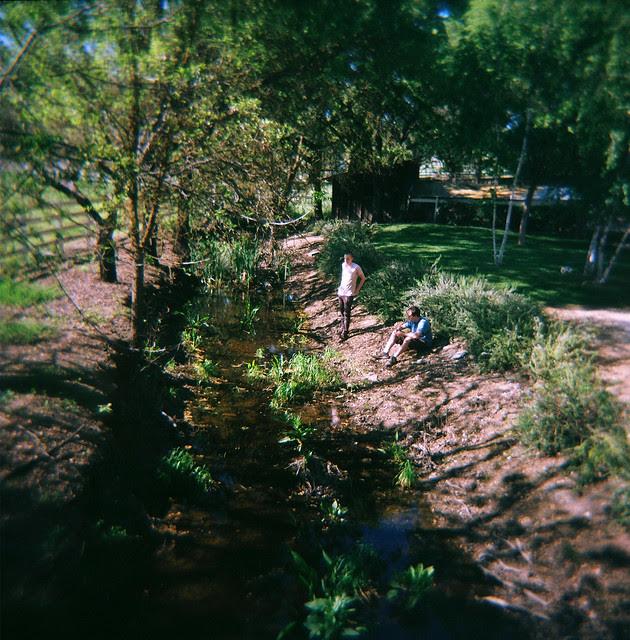 Boys in the creek