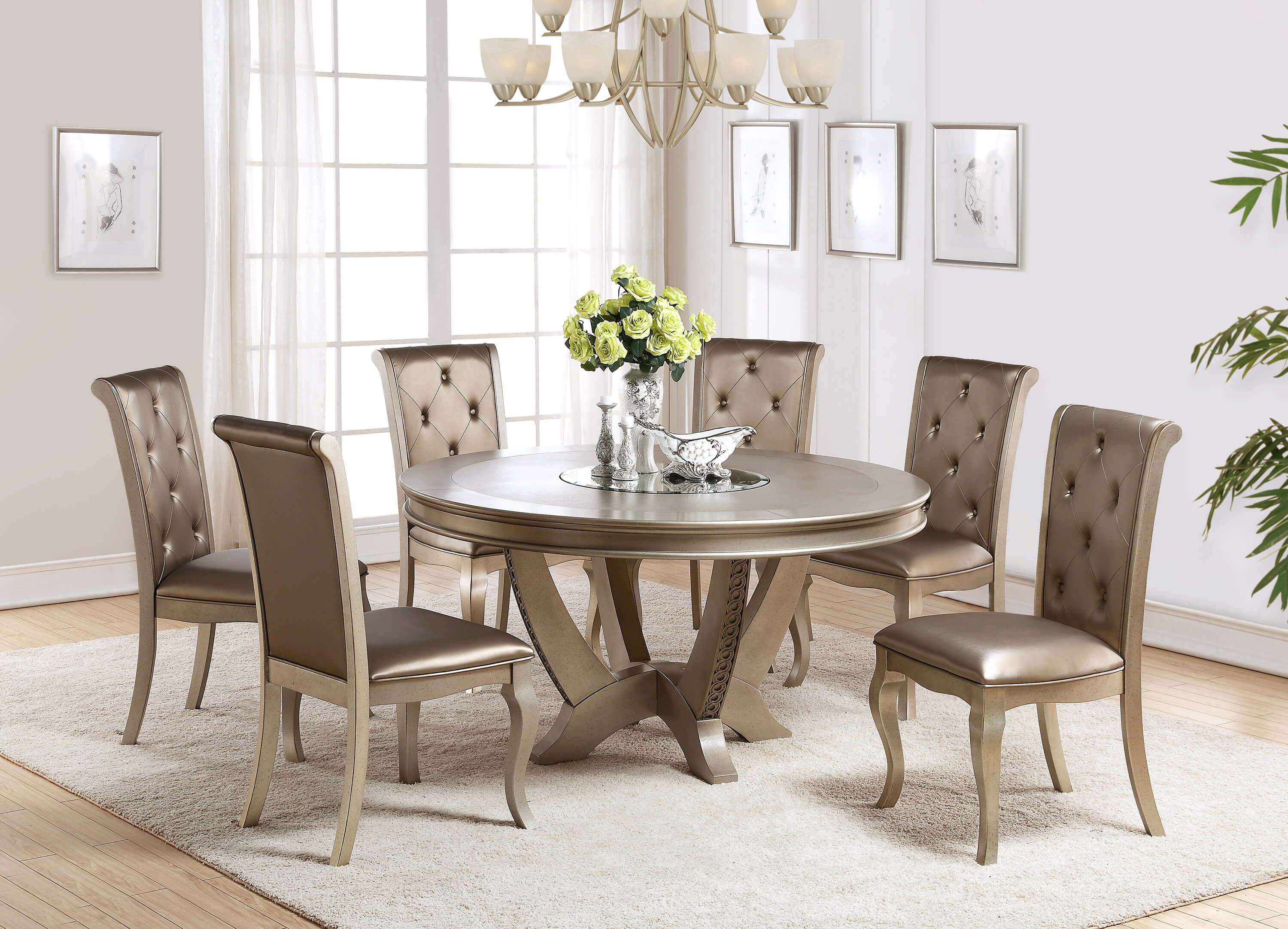 champagne dining room table