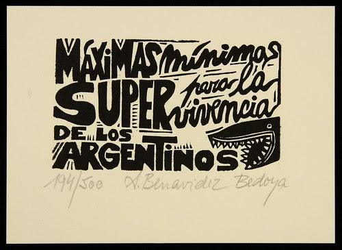 A Benavidez Bedoya, 1999 'Máximas mínimas para la supervivencia de los argentinos' pub- La Marca Editora, Argentina
