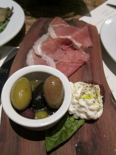 Burrata and Ham