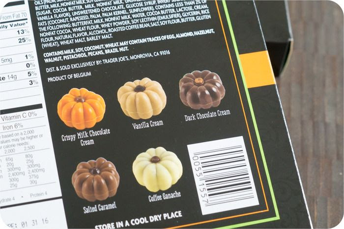 trader joe's belgian chocolate pumpkins review : part of a weekly review series of tj's desserts and treats