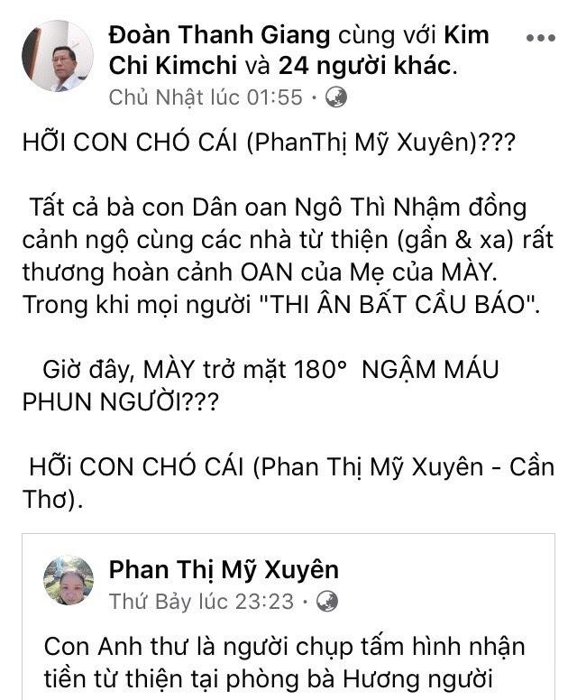 Phan Thị Mỹ Xuyên bóc mẽ hoạt động của Đoàn Thanh Giang