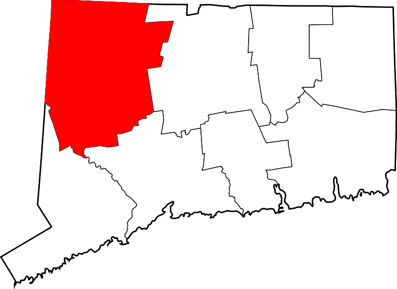 Filemap Of Connecticut Highlighting Litchfield County Svg