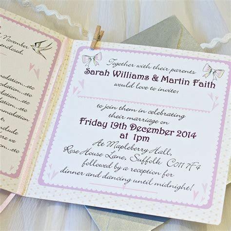 dainty bow wedding invitations by bedcrumb