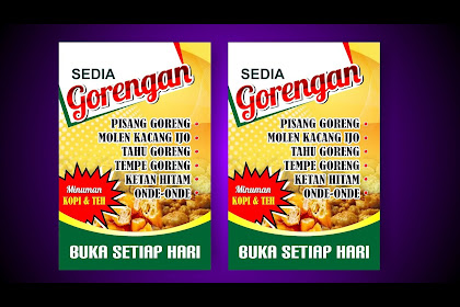 Newest For Banner Jual Gorengan