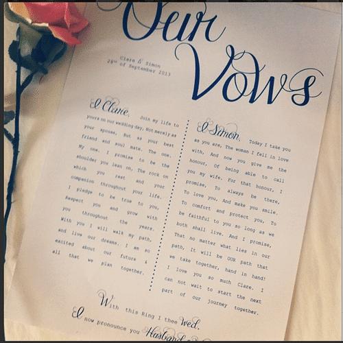 wedding vows - My Wedding Photos