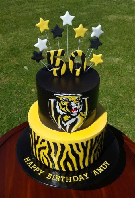 Richmond Football Club Cake   cake by Lisa Jane Fudge
