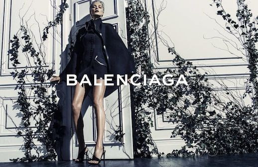 LE FASHION BLOG BALENCIAGA SS 2014 AD CAMPAIGN MODEL DARIA WERBOWY BY STEVEN KLEIN SPRING SUMMER COLLECTION SHORT BLEACH BLOND HAIR PIXIE CUT SLICKED BACK DARK VAMPY LIPSTICK BLACK CAPE COAT BLACK HEELED SANDALS HEELS 4 photo LEFASHIONBLOGBALENCIAGASS2014ADCAMPAIGNDARIAWERBOWYBYSTEVENKLEIN4.jpg