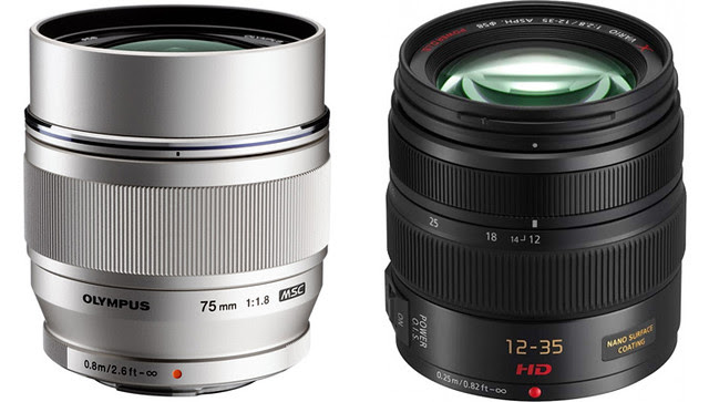 Olympus 75mm f1.8 and Lumix 12-35mm f2.8 Lenses