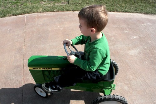 tractor riding