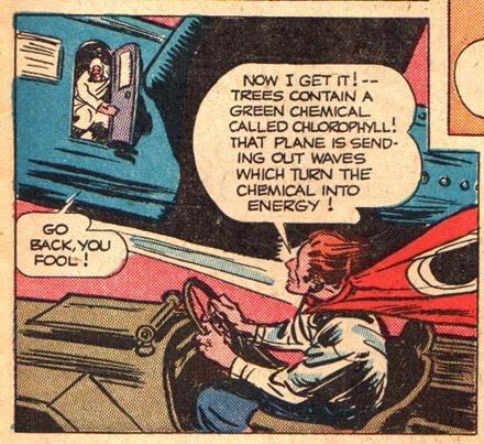 Super hero comic flying car