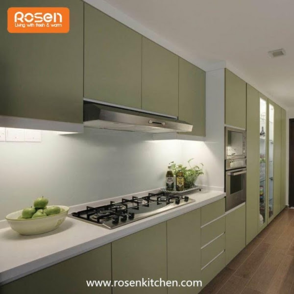 Modern Green Color Best Spray Hand Painted Flat Pack