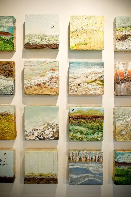 cool idea- making mini paintings on tiles